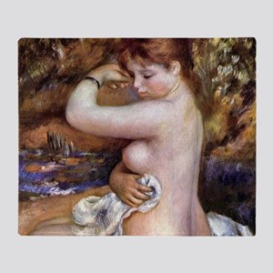 Pierre-Auguste Renoir After The Bath Throw Blanket